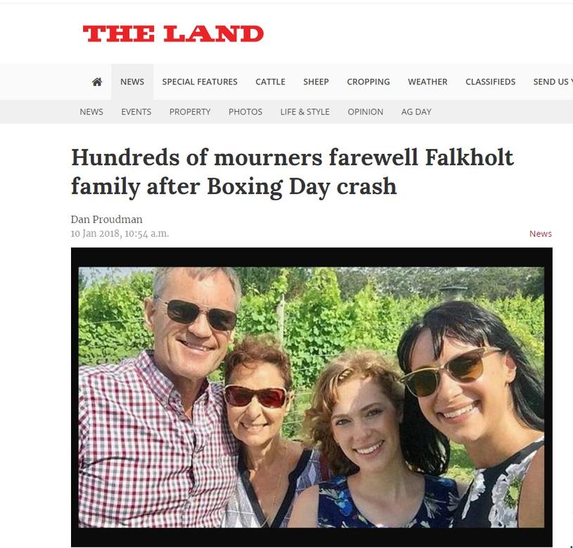 O tragedii donoszą światowe media (Screen: theland.com.au) /materiał zewnętrzny