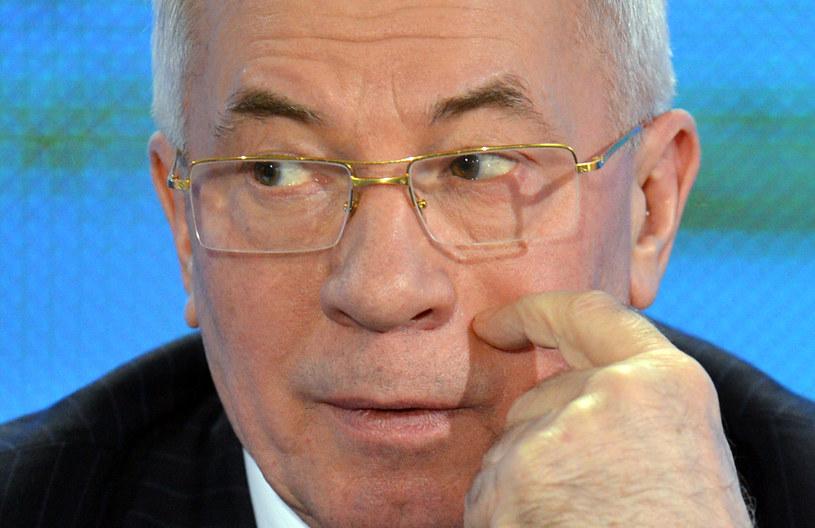O wizycie w Brukseli poinformował premier Mykoła Azarow /AFP
