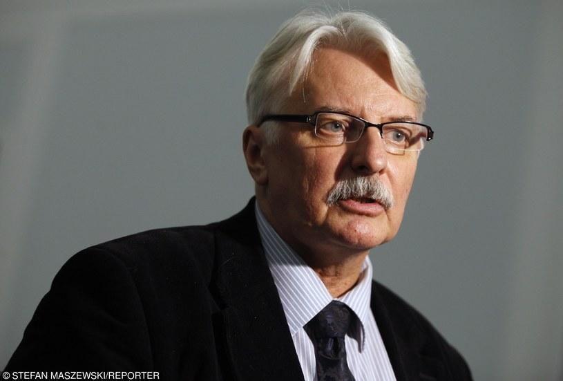 O wydanie opinii przez Komisję poprosił szef MSZ Witold Waszczykowski / Stefan Maszewski  /Reporter