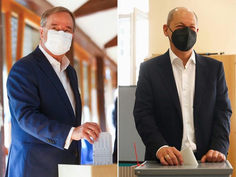 Obaj kandydaci podczas głosowania /AFP