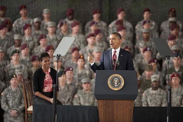 Obama w bazie wojskowej Fort Bragg /AFP