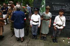 Obchody 70. rocznicy powstania przy pomniku Gloria Victis