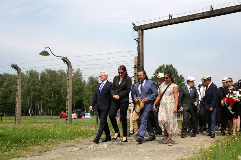 Obchody 73 rocznicy likwidacji tzw. Zigeunerlager (obozu cygańskiego) w KL Auschwitz-Birkenau w ramach Międzynarodowego Dnia Pamięci o Zagładzie Romów /Jarek Praszkiewicz /FORUM