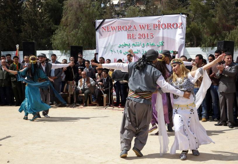 Obchody kurdyjskiego powitania nowego roku w Damaszku /YOUSSEF BADAWI /PAP/EPA