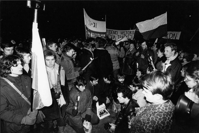 Obchody Święta Niepodległości 11.11.1980 roku /Wojtek Laski /East News