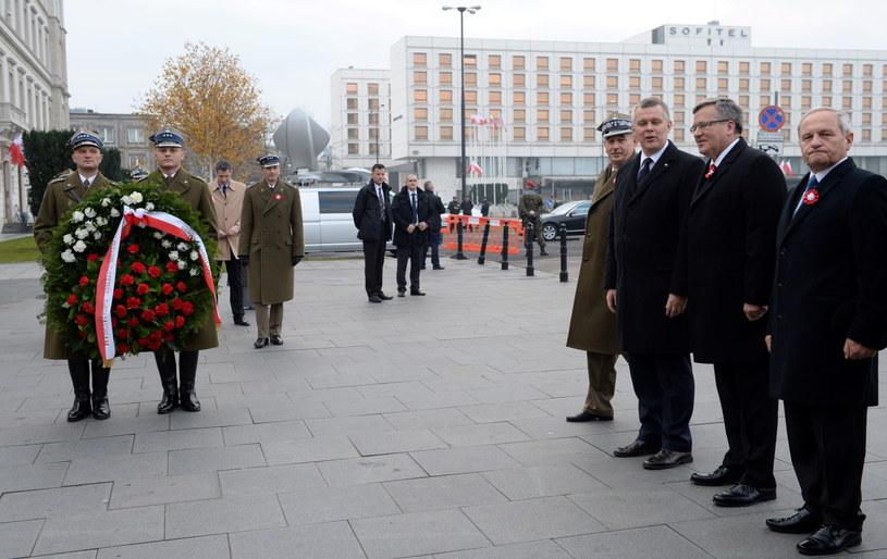 Obchody Święta Niepodległości z udziałem prezydenta Bronisława Komorowskiego /Jacek Turczyk /PAP