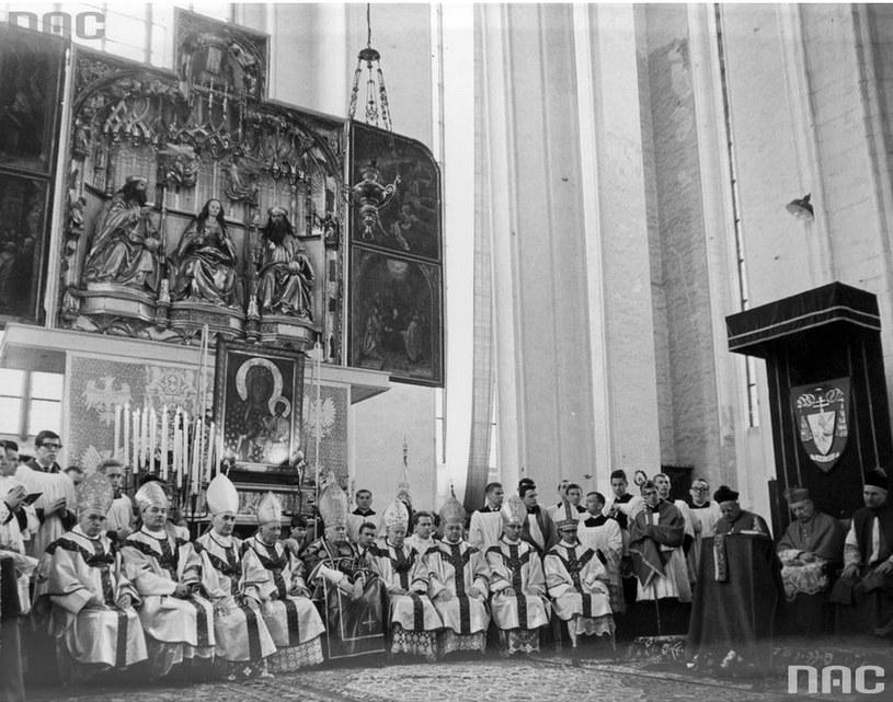 Obchody Tysiąclecia Chrztu Polski w Gdańsku, 1966 rok /Ze zbiorów Narodowego Archiwum Cyfrowego