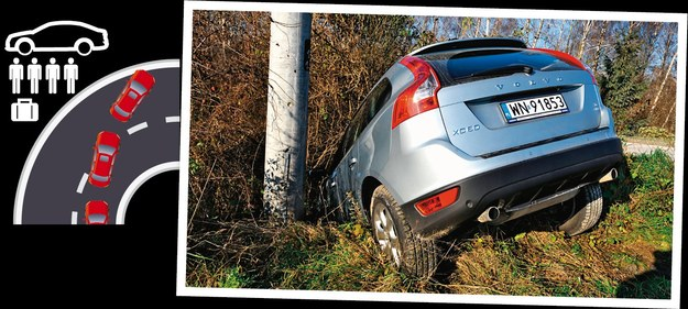 Obciążone auto bez podniesienia ciśnienia w kołach niechętnie i z opóźnieniem reaguje na skręt kierownicą i w efekcie może wypaść na drugi pas lub wylecieć z drogi. /Motor