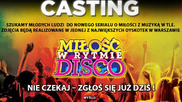 """Obecnie trwają poszukiwania odtwórców głównych i epizodycznych ról w serialu """"Miłość w rytmie disco"""". /materiały prasowe"""