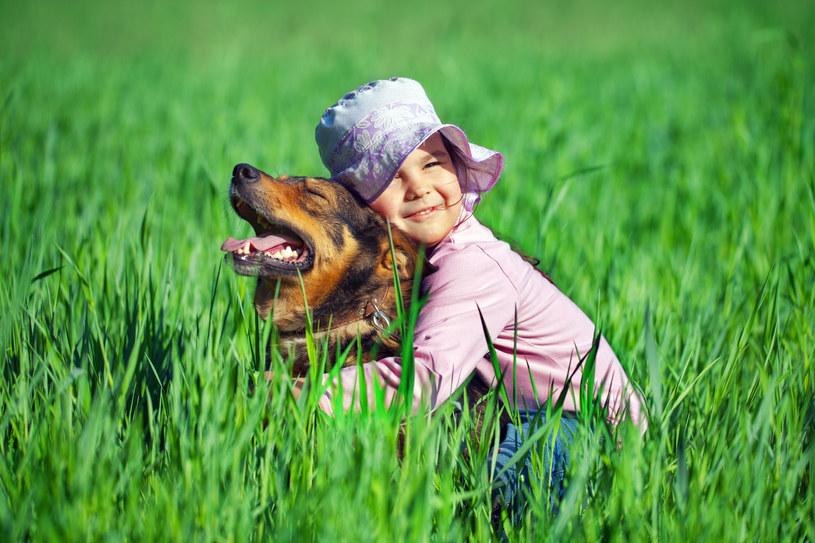 Obecność psa doskonale wpływa na rozwój dziecka /123RF/PICSEL