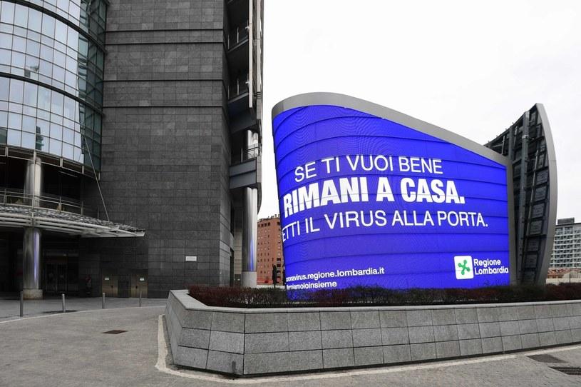 Obecny bilans w Lombardii to 890 zmarłych zakażonych koronawirusem, w całych Włoszech - 1266 /AFP