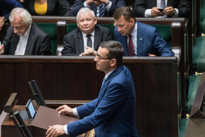 Obecny i przyszły premier Mateusz Morawiecki w Sejmie / Jacek Domiński /Reporter