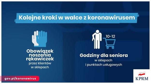 Obostrzenia w sklepach. Godziny dla seniorów /KPRM