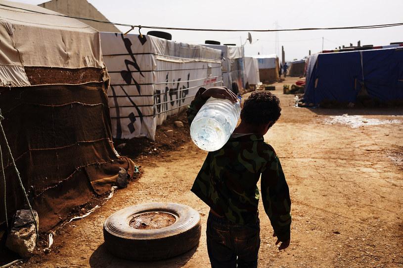 Obóz dla syryjskich uchodźców w Libanie /Spencer Platt /Getty Images
