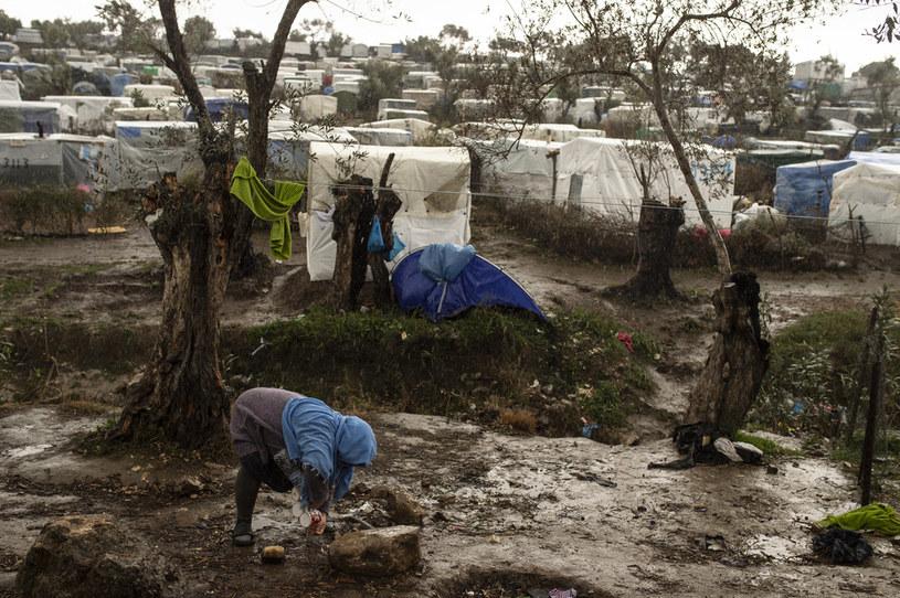 Obóz dla uchodźców Moria, luty 2020 / Ivan Romano /Getty Images