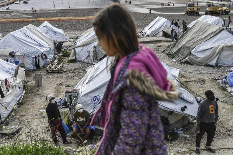 Obóz dla uchodźców w Grecji /AFP