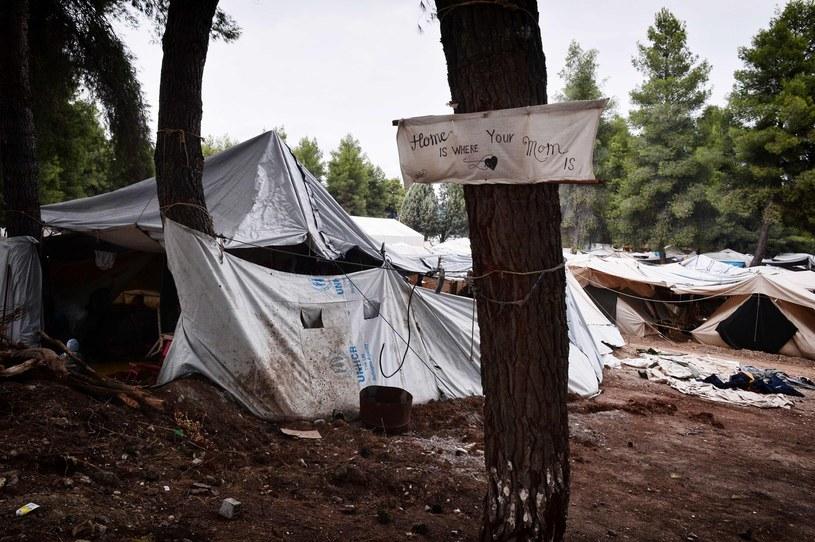 Obóz dla uchodźców w okolicach Aten /AFP