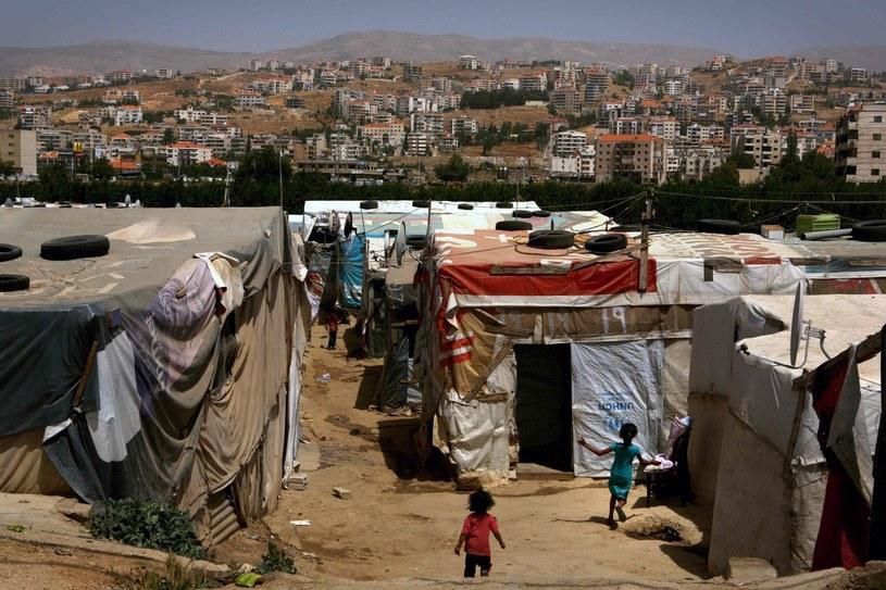 Obóz dla uchodźców z Syrii w Zahle w Libanie /AFP