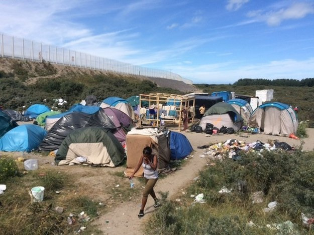 Obóz imigrantów w Calais /Archiwum RMF FM