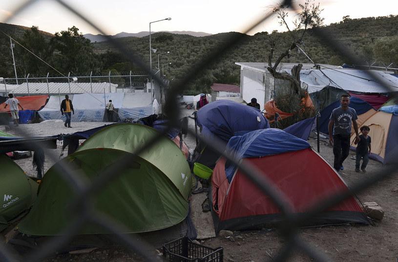 Obóz migrantów Moria na wyspie Lesbos /AFP