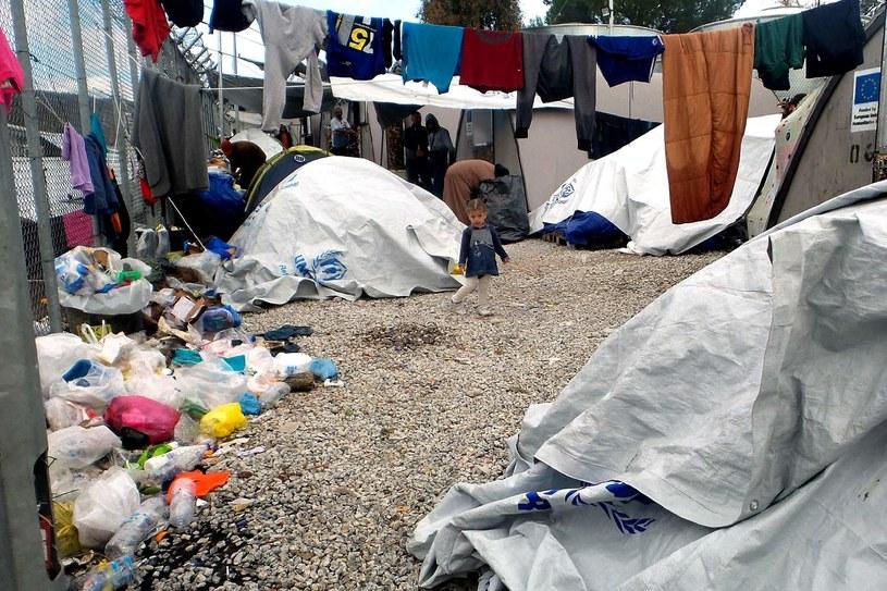 Obóz Moria na Lesbos /AFP