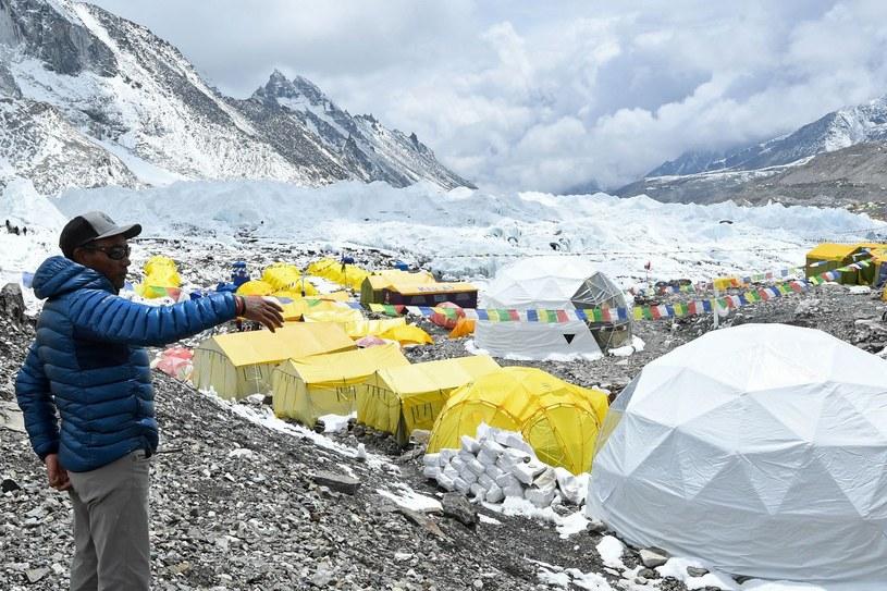 Obóz pod Mount Everest /PRAKASH MATHEMA /AFP