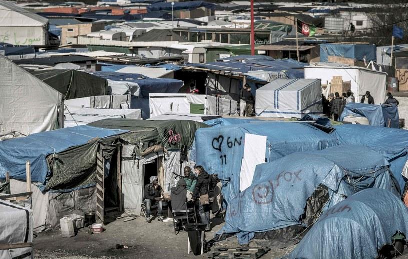 Obóz uchodźców w Calais. /PHILIPPE HUGUEN /East News