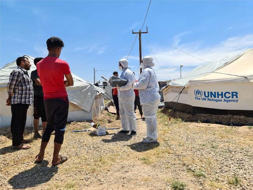 Obóz w Iraku podczas pandemi COVID-19 /źródło: PAH /