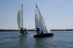 Obóz żeglarski w Próchnówku nad Jeziorem Bytyń Wielki