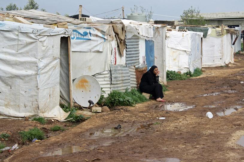 Obozowisko na północy Libanu, tuż przy granicy z Syrią /Marcin Ogdowski /INTERIA.PL