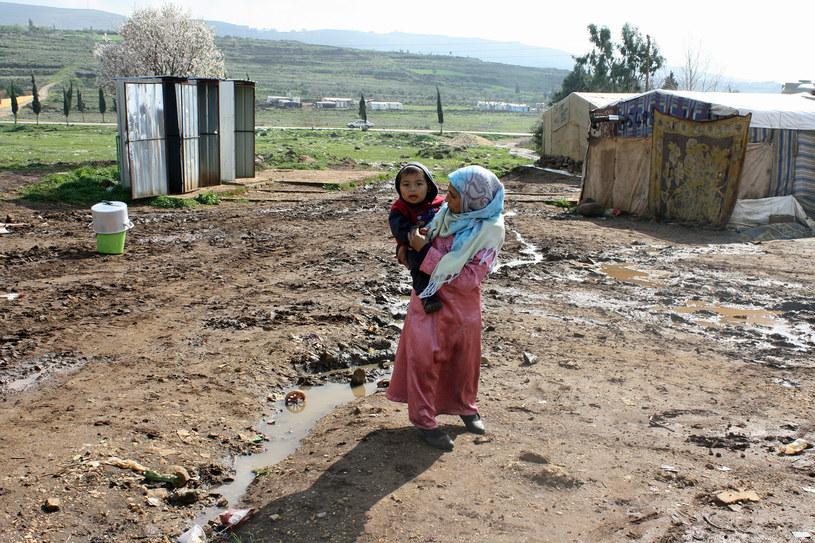 Obozowisko na północy Libanu. Wystarczy krótka burza, by ziemia zmieniła się klejącą breję /Marcin Ogdowski /INTERIA.PL