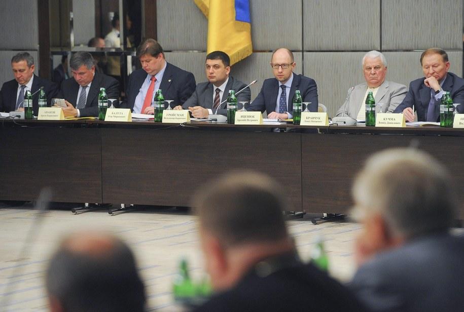 Obrady drugiego okrągłego stołu odbyły się w Charkowie /ANDREW KRAVCHENKO/POOL /PAP/EPA