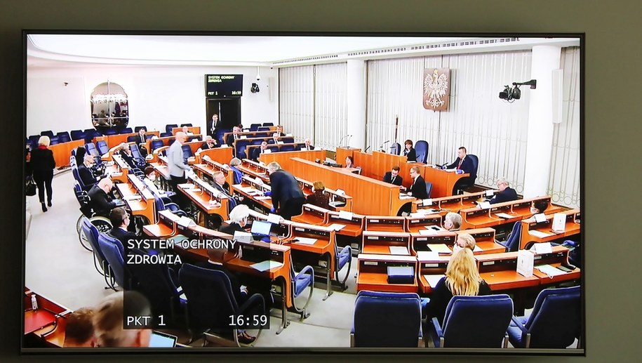 Obrady Senatu /Wojciech Olkuśnik /PAP