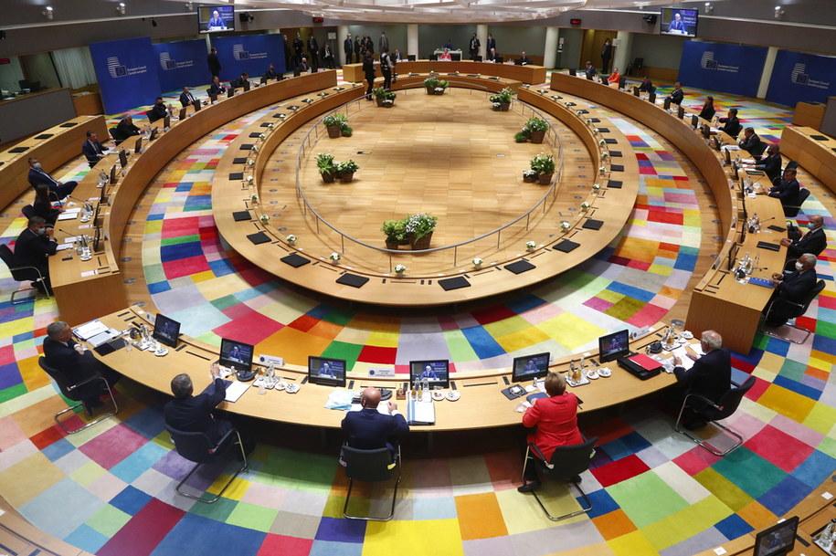 Obrady unijnych liderów w czasie szczytu w Brukseli /FRANCOIS LENOIR / POOL /PAP/EPA