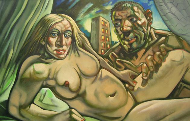 "Obraz autorstwa Petera Howsona ""Madonna&Guy""  /Splashnews"
