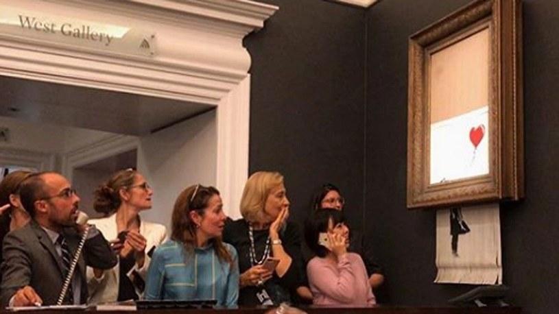 Obraz Banksy'ego, sprzedany za milion funtów, uległ... samozniszczeniu /Geekweek