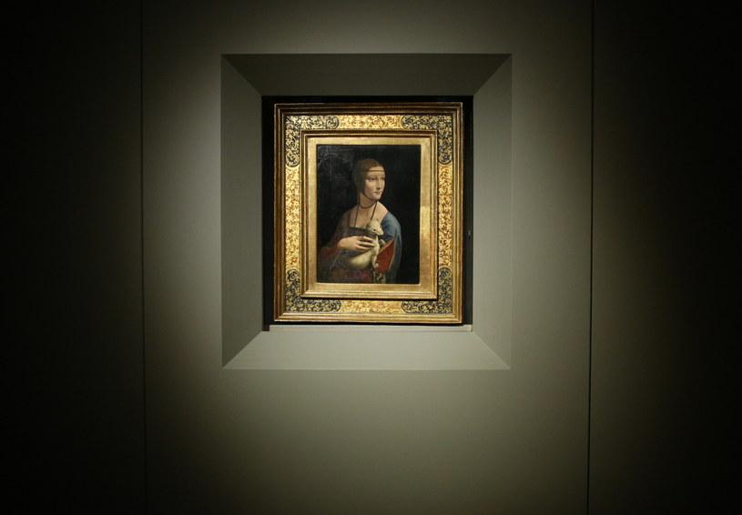 """Obraz """"Dama z Gronostajem Leonadra da Vinci /Stanisław Rozpędzik /PAP"""