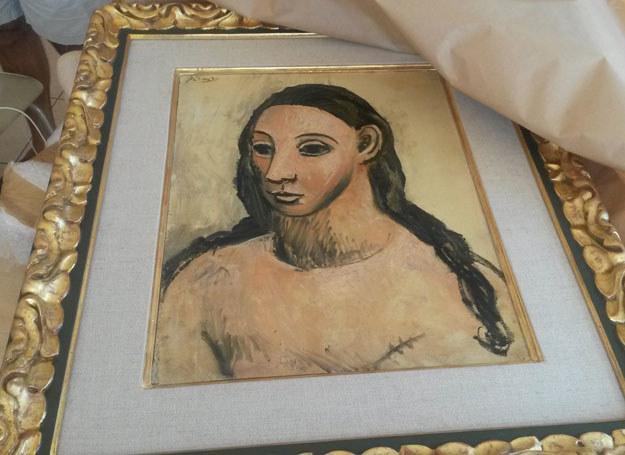 """Obraz """"Głowa kobiety"""" Picassa /FRENCH CUSTOMS OFFICE  /AFP"""