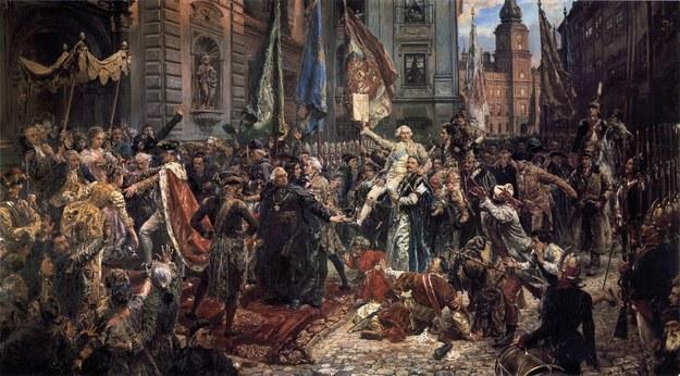"Obraz Jana Matejki ""Konstytucja 3 Maja 1791 roku"" /ART Collection / Alamy Stock Photo /PAP/Alamy"