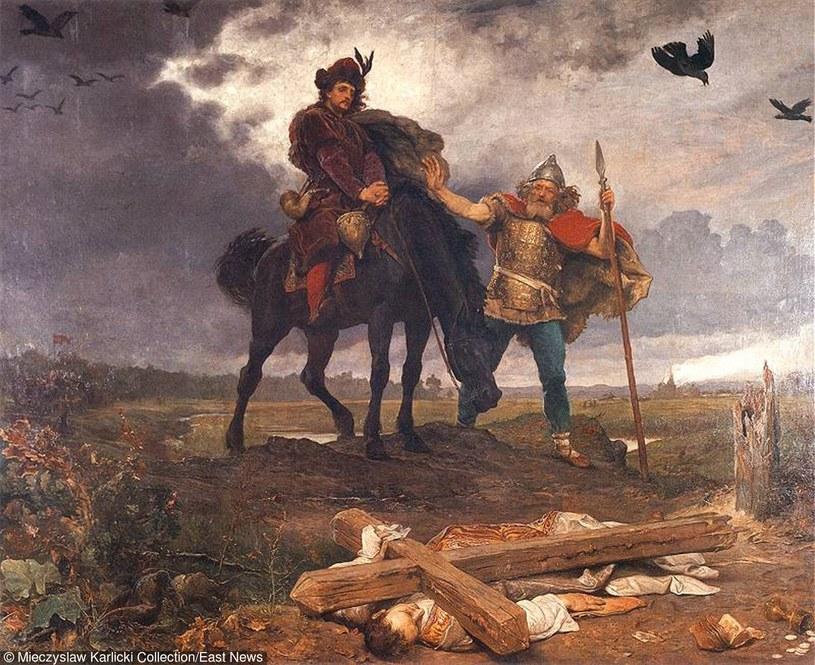 """Obraz """"Kazimierz Odnowiciel wracajacy do Polski"""", mal. Wojciech Gerson, 1887. /Archiwum Karlicki /East News"""