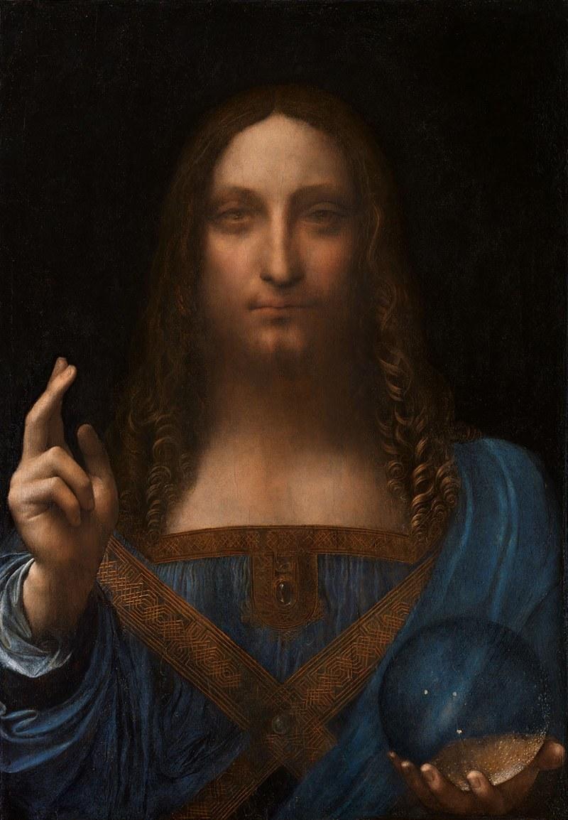 "Obraz Leonarda da Vinci ""Zbawiciel świata"" /Wikimedia Commons /&nbsp"
