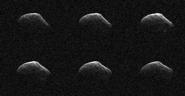 Obraz P/2016 BA14 uzyskany z pomocą anteny Deep Space Network w Goldstone, 23 marca. Kometa była wtedy 3,6 miliona kilometrów od Ziemi /NASA/JPL-Caltech/GSSR /materiały prasowe
