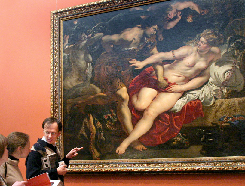 "Obraz Petera Paula Rubensa ""Tarkwiniusz i Lukrecja"" /ALEXANDER DROZDOV /AFP"