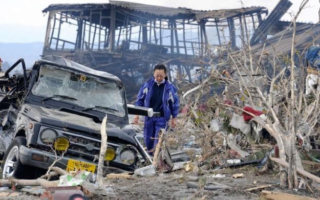 Obraz po trzęsieniu ziemi, które nawiedziło Japonię pod koniec ubiegłego tygodnia /AFP