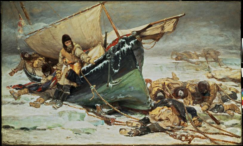 Obraz przedstawiający domniemane losy ekspedycji Franklina /AKG Images /East News