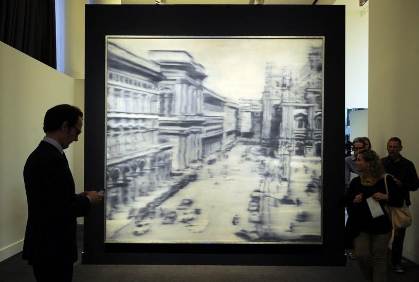 """Obraz Richtera """"Plac Katedralny w Mediolanie"""" /AFP"""