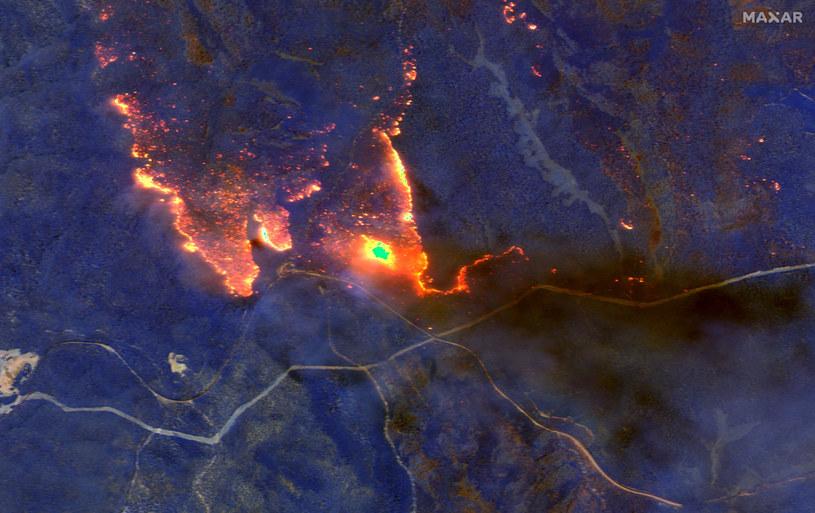 Obraz satelitarny zniszczeń /HO/AFP /East News