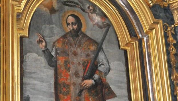 Obraz św. Walentego w kościele w Koprzywnicy /Waldemar Maluga /PAP