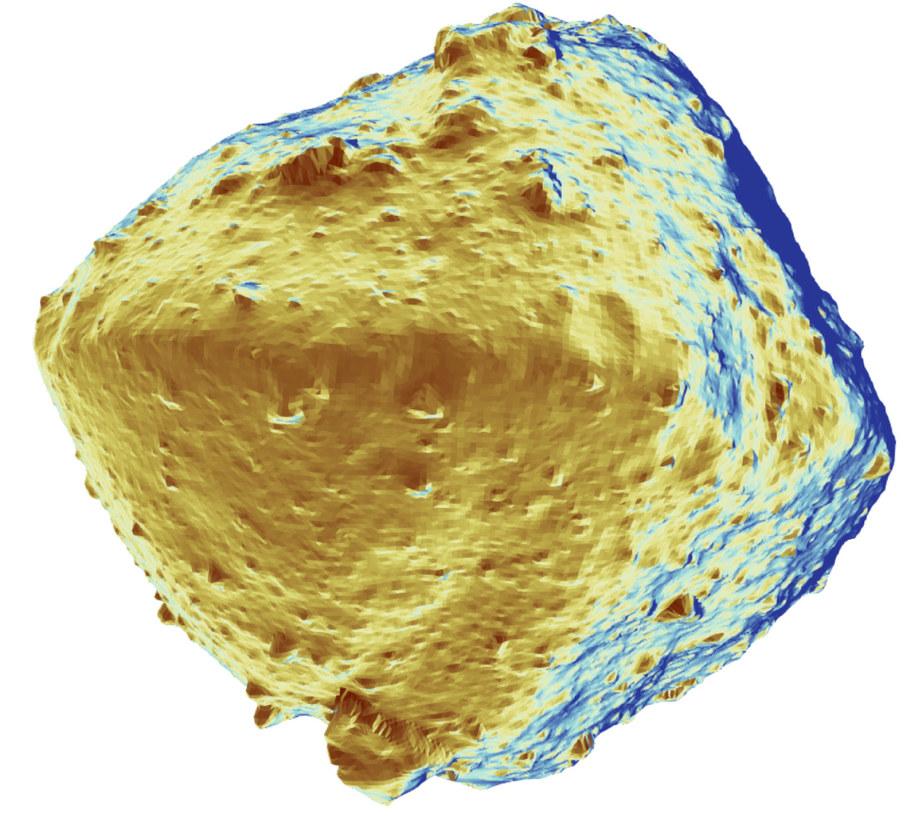 Obraz termiczny planetoidy Ryugu /© 2019 Seiji Sugita et al., Science /Materiały prasowe