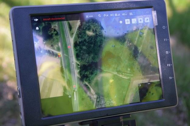 Obraz z drona /KWP Radom /Policja